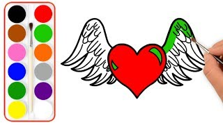 How to draw Perfect love hearts-Hearts Drawing & Coloring For Kids-Coloring Pages For babies