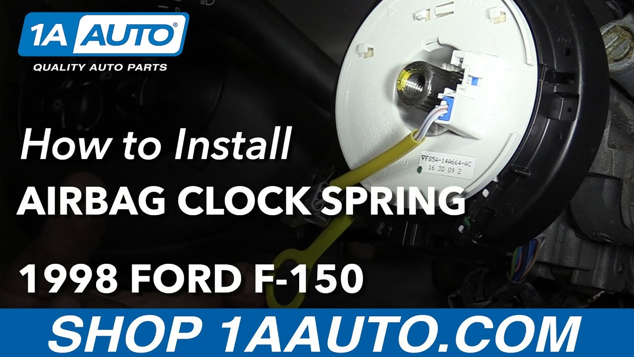 how to replace airbag clock spring 97 98 ford f 150 [ 1280 x 720 Pixel ]