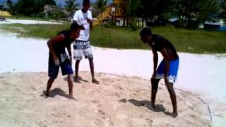 Beach Wrestling Barbados Jerome and Daniel