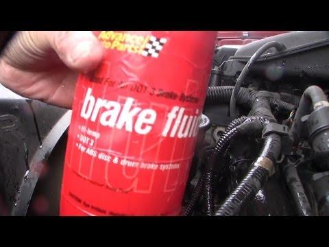 Purging Toyota power steering w Brake fluid