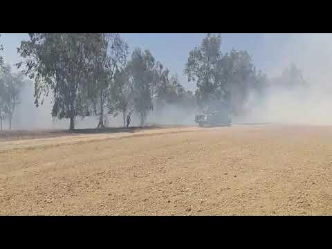 שריפה באיזור באר מרווה כתוצאה מבלוני תבערה