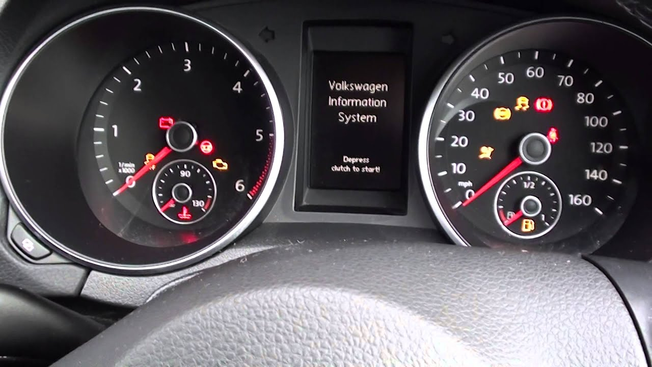 VW Golf Mk6 Engine Start U0026 Warning Lights Guide 2008 To 2013 Models    YouTube