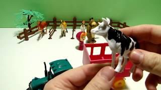 Маша и Медведь | Трактор на ферме - Домашние животные для детей: учим названия и голоса животных ;)