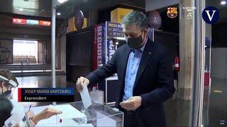 Josep Maria Bartomeu ejerce su derecho a voto en las elecciones presidenciales al FC Barcelona
