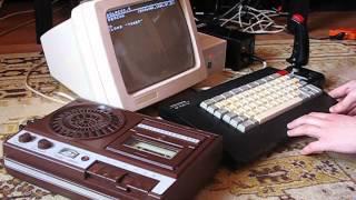Компьютер Электроника БК-0010 в действии!