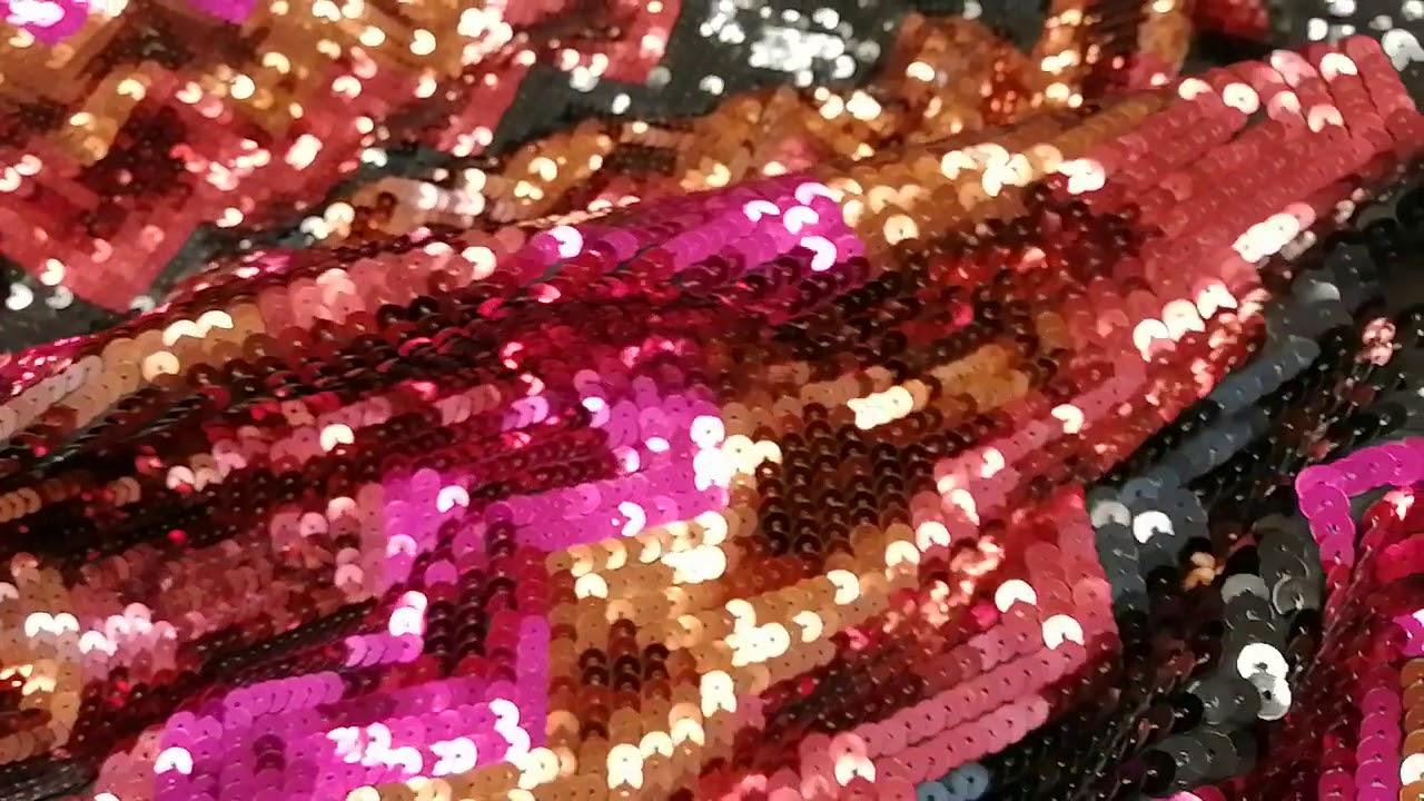 Роскошные пайетки на трикотаже с рисунком для пошива платья юбки жакета новая коллекция
