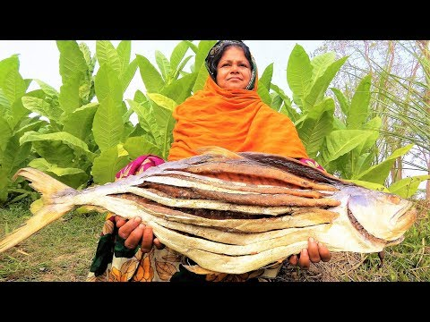 Giant APOLLO Fish!! Dry Fish Recipe! Arowana, Tomato & Potato Dried Fish/Shutki Bhuna Curry For Kids