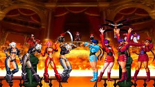 Kof Mugen Angel Team Vs Shermie Team!!!!