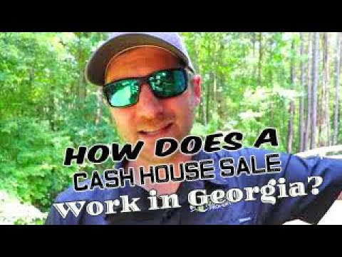 How does a cash house sale work in Georgia?
