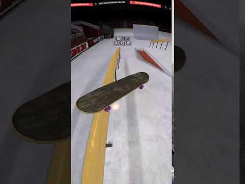True Skate - Nollie kickflip bs feeble grinds look amazing.