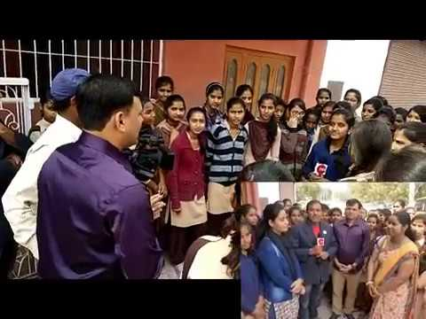 BIKANER Mharani School Girls Visit ZEE RAJASTHAN Office Bika
