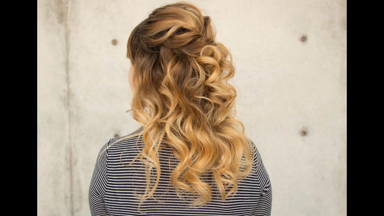 bridal half down wavy hairstyle