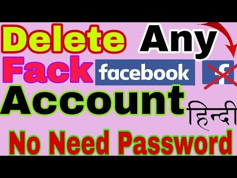 How to Delete Fack Facebook Account ( without password ) By Report || Hindi || 2018