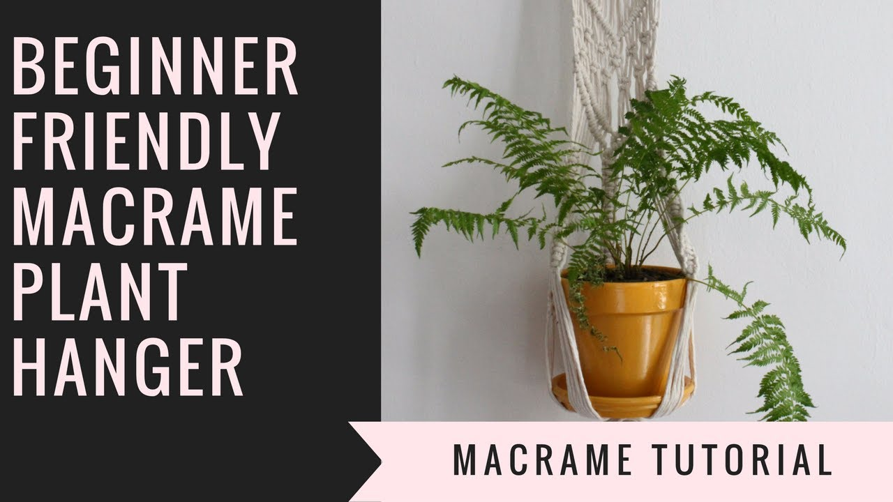 MACRAME DIY PLANT HANGER //How to make a decorative macrame plant ...