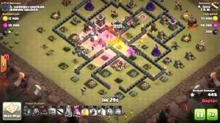 Clash of clans | maxed th9 | war attack | 3 star | GOWIHO | Square base | how to get 3 star on maxd