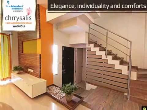 Bungalows In Pune Chrrysalis 3 Bhk Luxurious Row Houses In Pune Wagholi Youtube