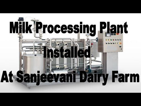 Milk Processing Plant Installed At Dairy Farm. Pasteurised & Packed In Pouches & Bottles. Mini Dairy