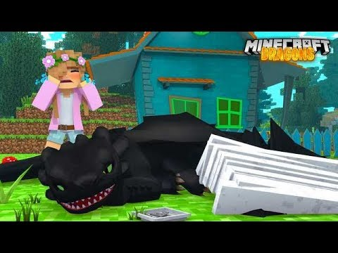 MY NIGHT FURY BROKE ITS WING !! | Minecraft DRAGONS w/ Little Kelly
