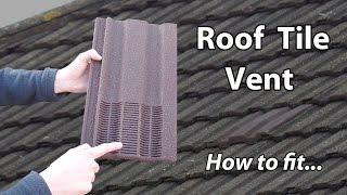 Roof Ventilation Tile & Bathroom Exhaust Vent Extractor
