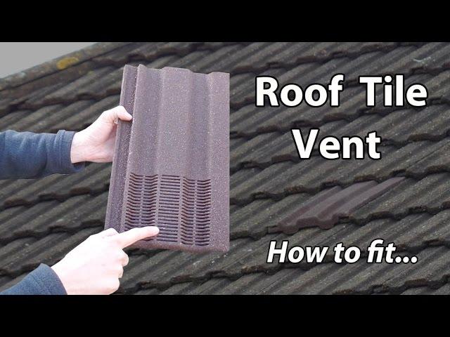 Roof Ventilation Tile Bathroom Exhaust Vent Extractor Youtube
