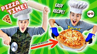 WE MADE PiZZA...FROM SCRATCH!! EASY TO FOLLOW RECiPE!! | RAD KiDs KiTCHEN