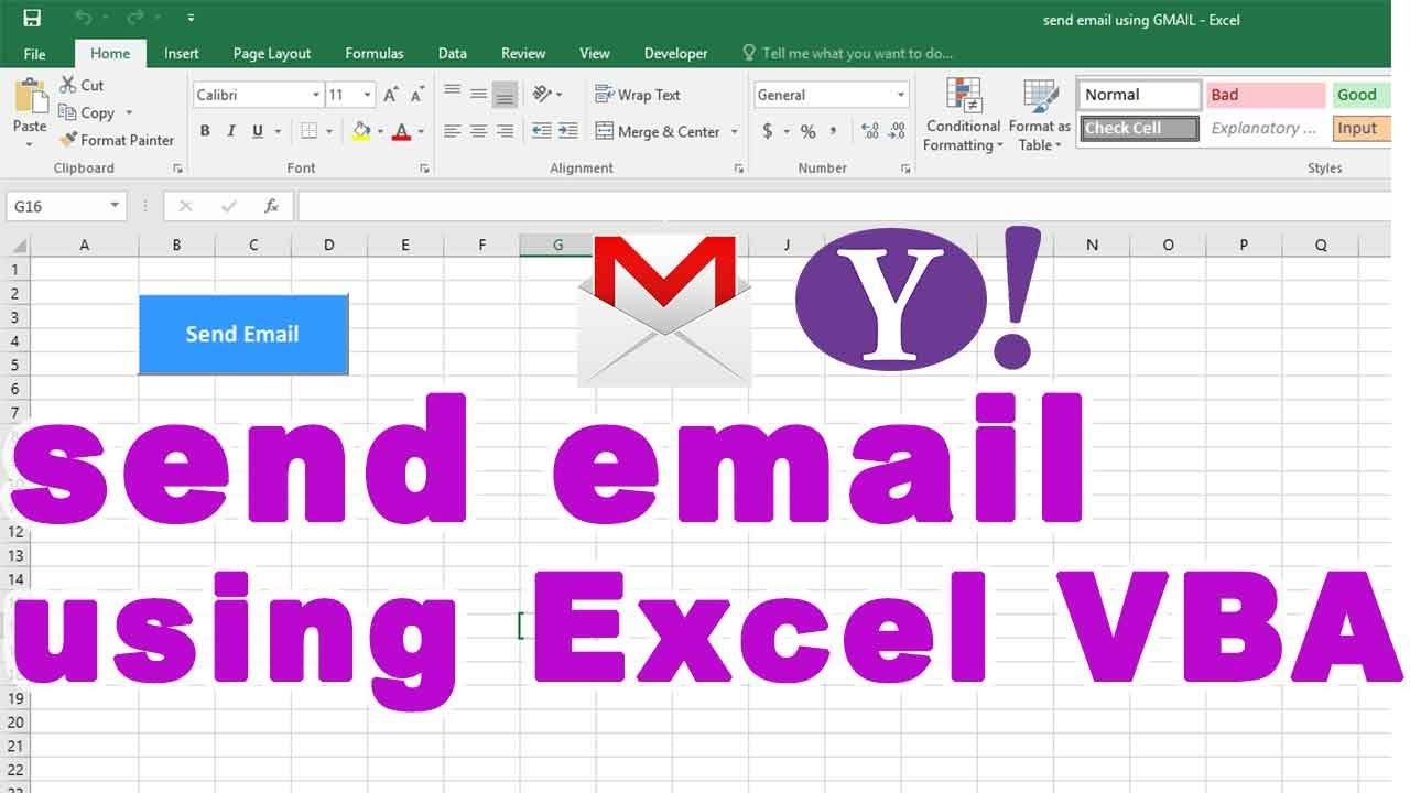 make pdf and send email from excel using vba