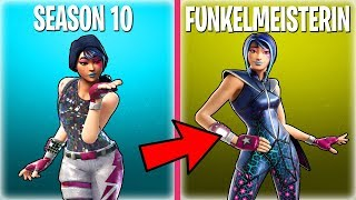 ALL SEASON 10 BATTLE PASS SKINS FROM SCHLECHT TO GUT ORDERED - Fortnite Battle Royale English