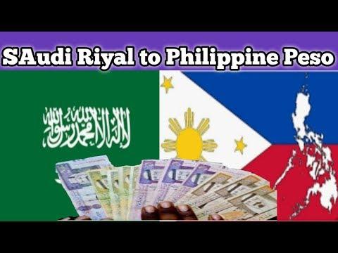 Saudi Riyal Money To Philippine Peso | Currency Exchange Rate