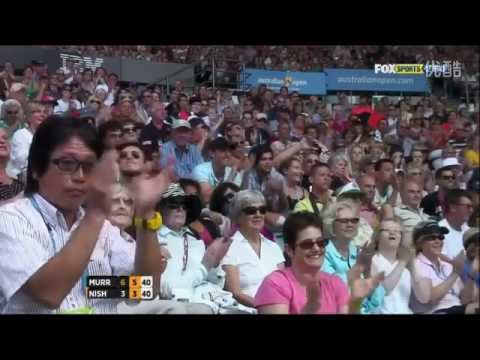 Andy Murray VS Kei Nishikori Highlight 2012 AO QF