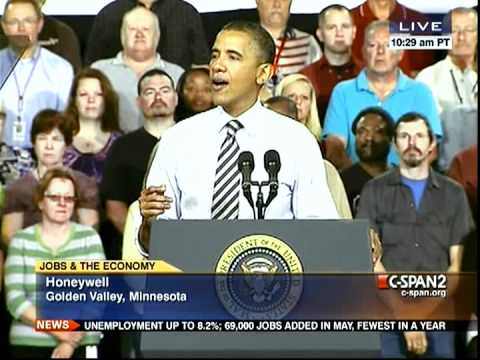 President Obama in Minnesota, on Jobs and the Economy