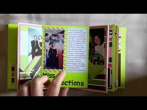 Completed friendship journal - envelope mini album
