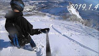 ロッテアライリゾート スノーボードフリーラン自撮り 【パウダー瞬殺】Lotte Arai Resort snowboard 2019.01.04[スノボ]