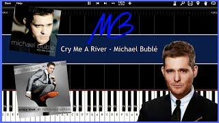 Cry Me A River - Michael Bublé (Synthesia) [Tutorial] [Instrumental Video]