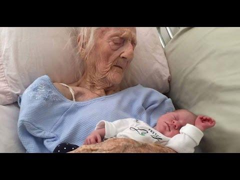 ¿ANCIANA DE 101 AÑOS DIÓ A LUZ A UN BEBE 27 DE ABRIL DE 2016