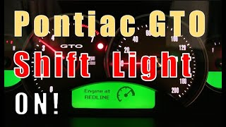 Enabling the Factory Disabled GTO Shift Light - Instrument Panel re-Programming