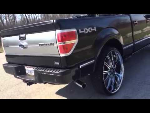 2010 F150 Platinum >> F150 platinum with 30 inch wheels - YouTube