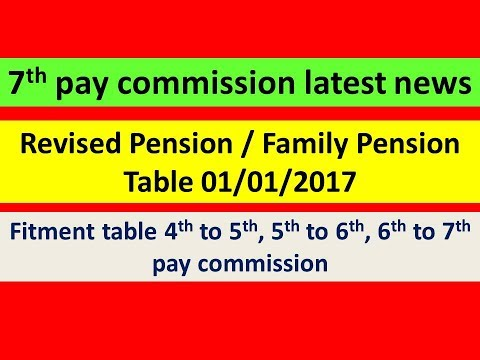 Revised Pension / Family Pension Table 01/01/2017