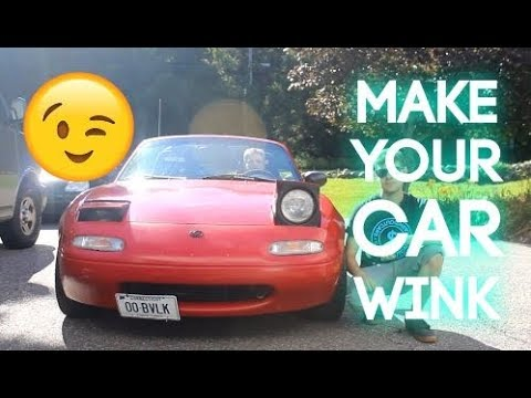 How To Make Your Car Wink (Pop-Up Headlight Mod) - YouTube