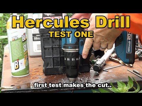 Hercules Hammer Drill Test 1 - bought from harbor freight (DeWALT killer?)
