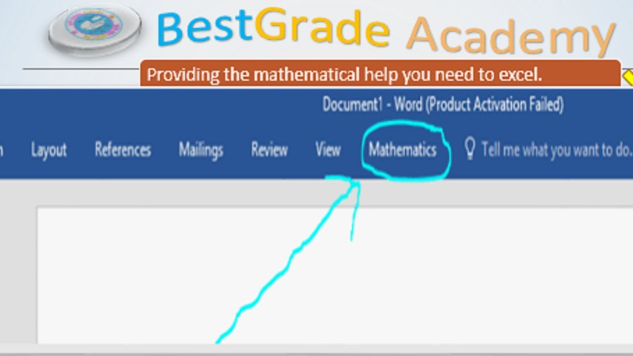 How to install Microsoft Mathematics Add-in and Activate the ...