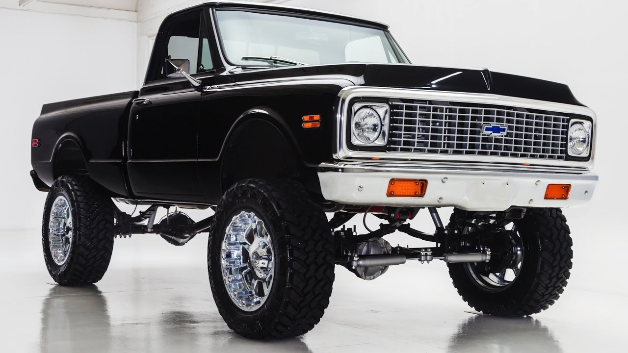 1972 Chevy K10 4x4 Off Road Black Youtube