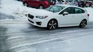 2018 Subaru Impreza on ice