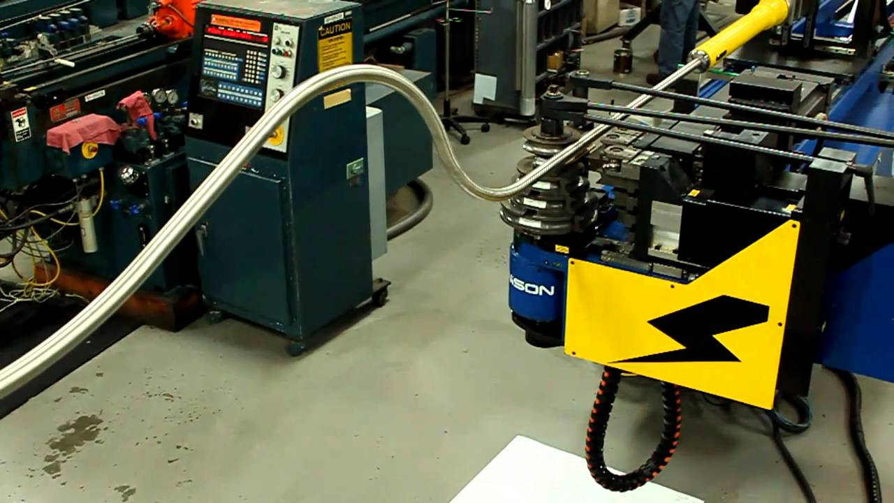 CNC Tube Bending Unison All Electric CNC stack bending with roll capapbility6.MOV