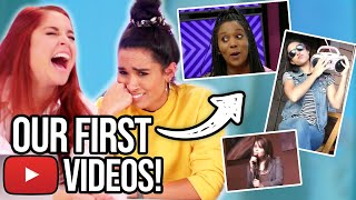 Reacting To Our First YouTube Videos [Clevver, Singing, & Comedy - Embarrassing!]