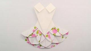 Origami dress /พับชุดกระโปรง