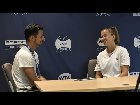 Interviewing rising Czech Star, Karolina Muchova! Also, she pronounces her last CORRECTLY for everyone else