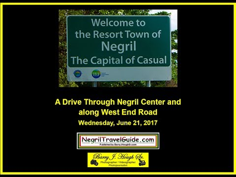A Drive Through Negril Center and along West End Road