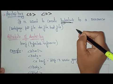Anchor &  Image Tags | Web Technology | Lec-9 | Bhanu Priya