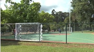 Entrega das quadras do Parque Ibirapuera reformadas