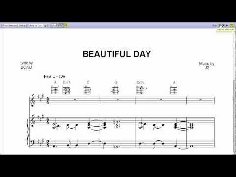 Beautiful Day - Piano Sheet Music